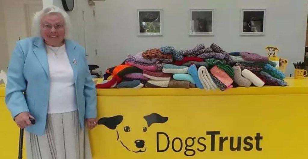 89-letnia Maisie Green i 450 koców dla psów