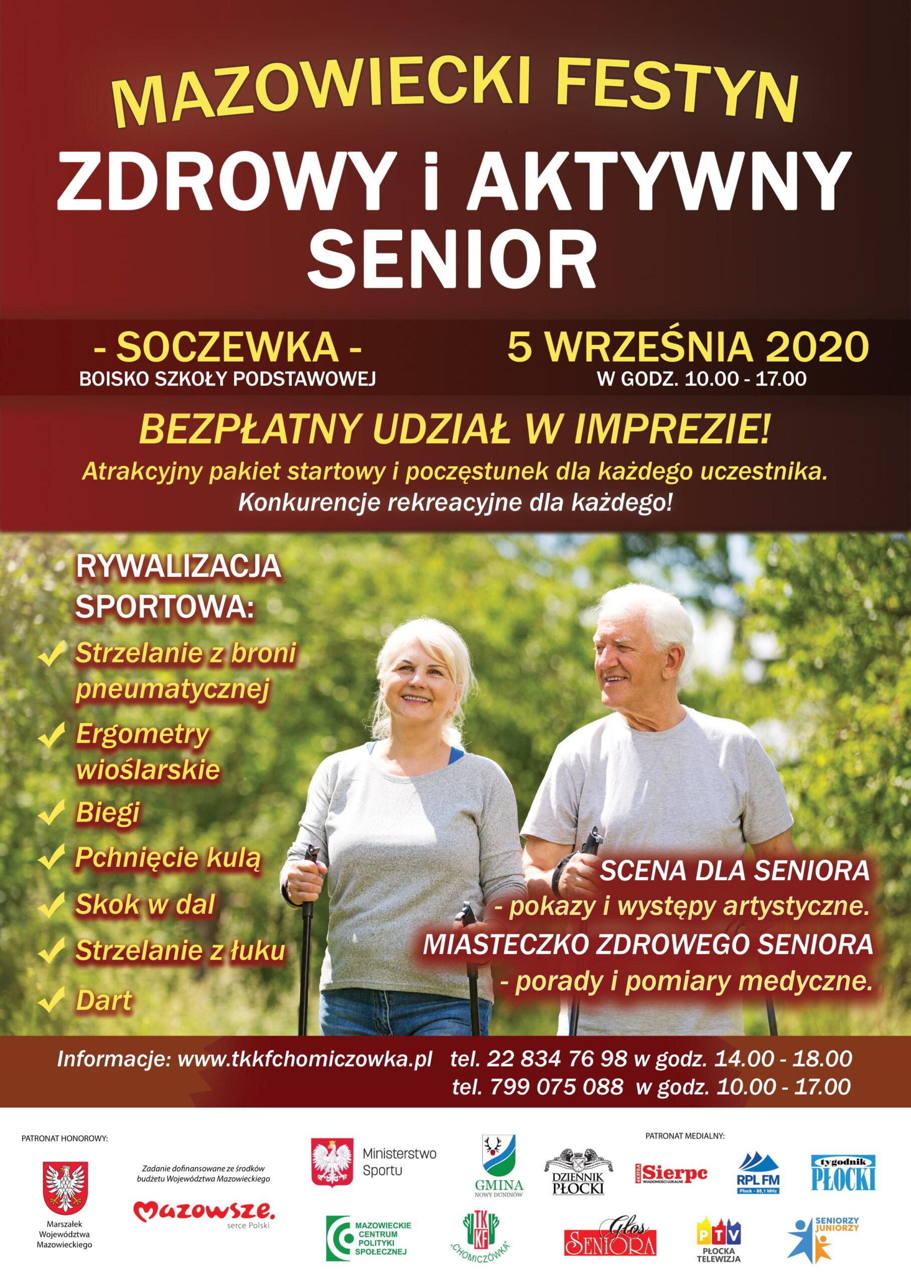 """Mazowiecki Festyn """"Zdrowy i Aktywny Senior"""""""