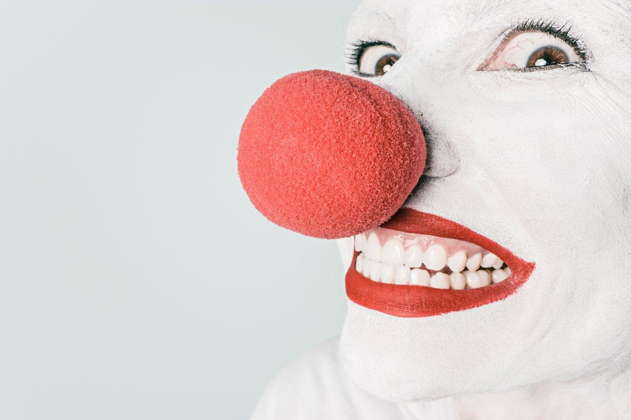 uśmiech klauna